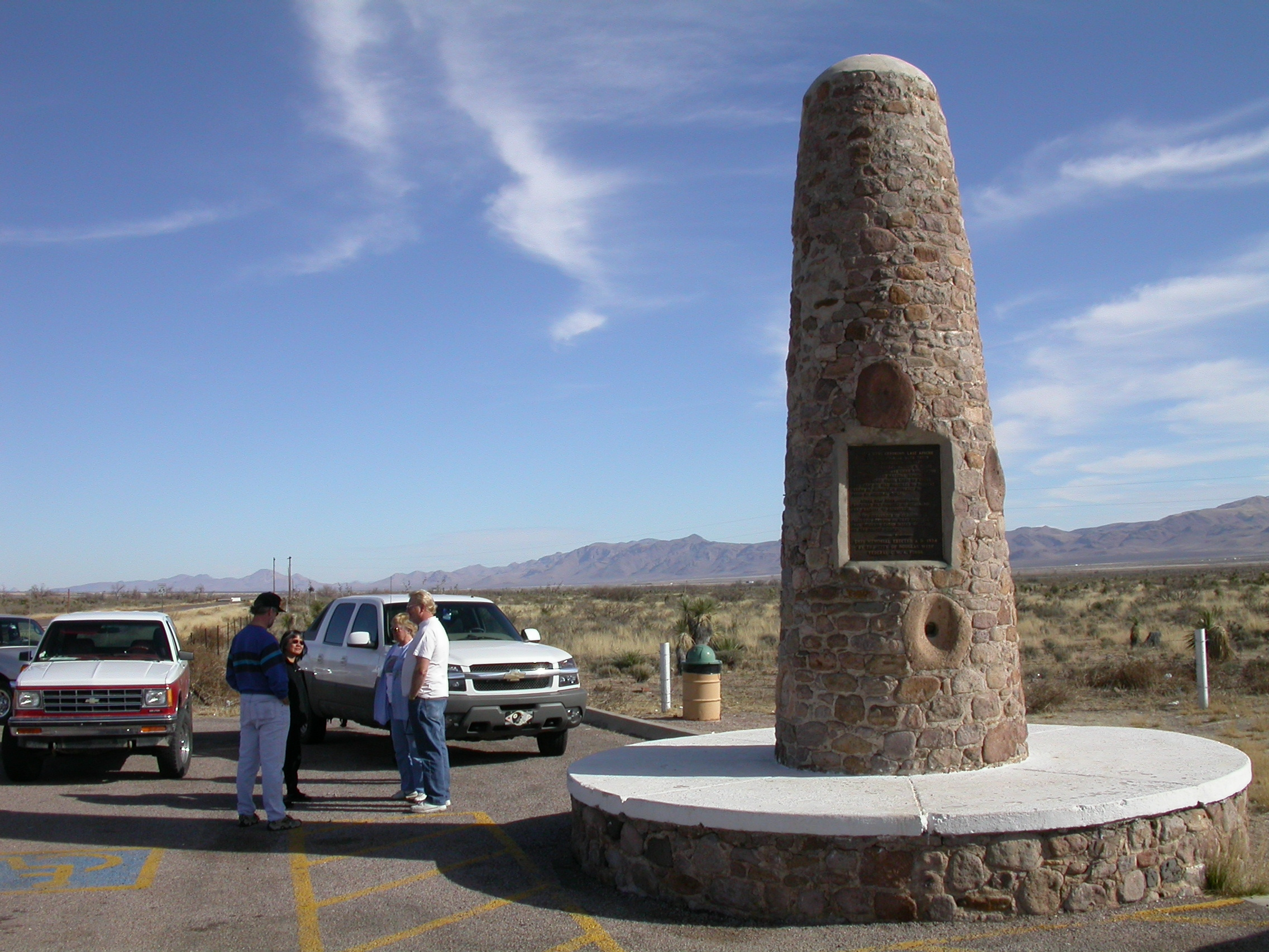 Geronimo Surrender monument on