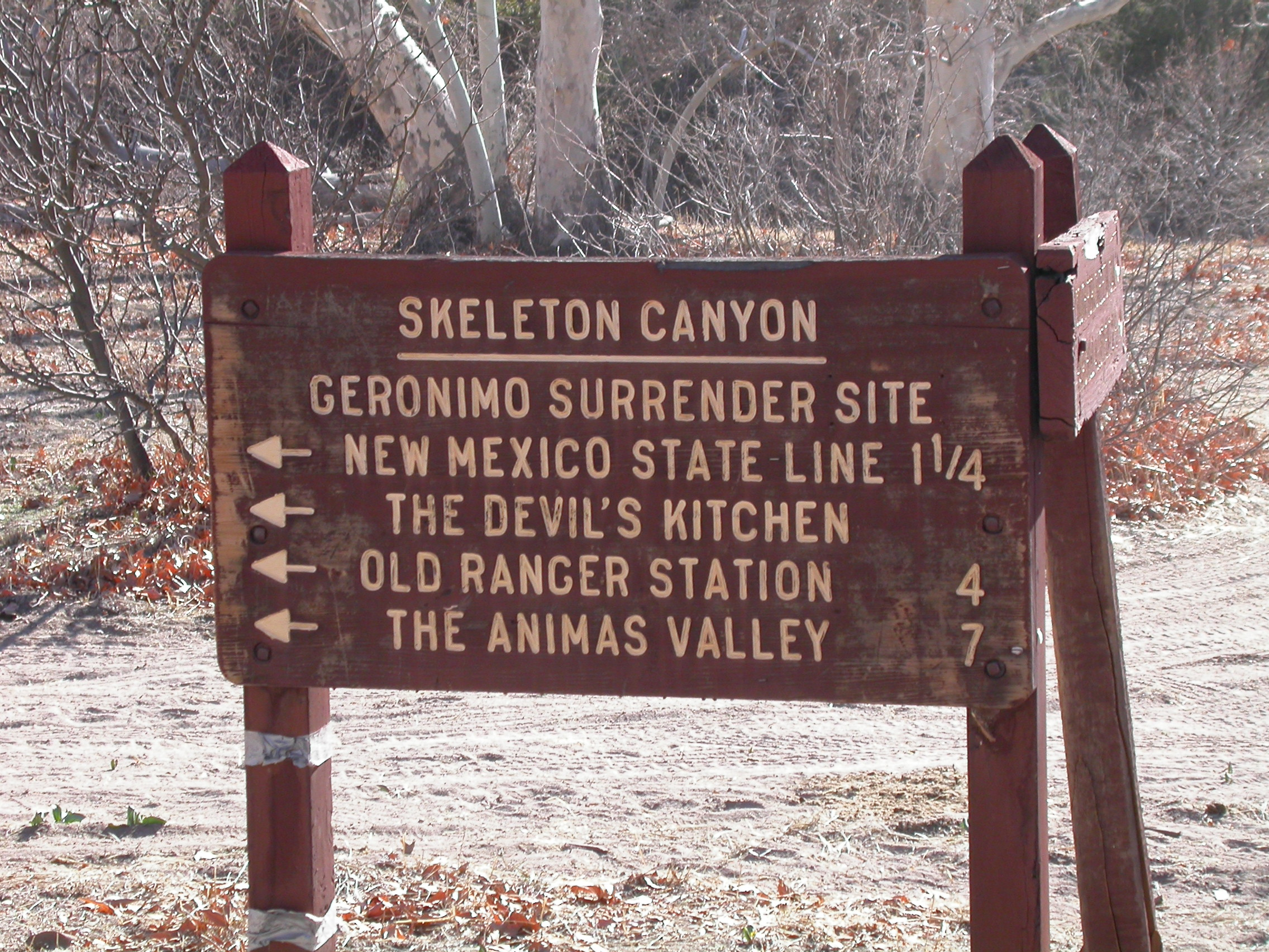 Geronimo Surrender Site In Skeleton Canyon - Where was geronimo on a us map
